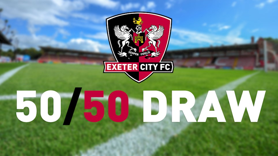 exeter city football club 50 50 draw exeter city fc