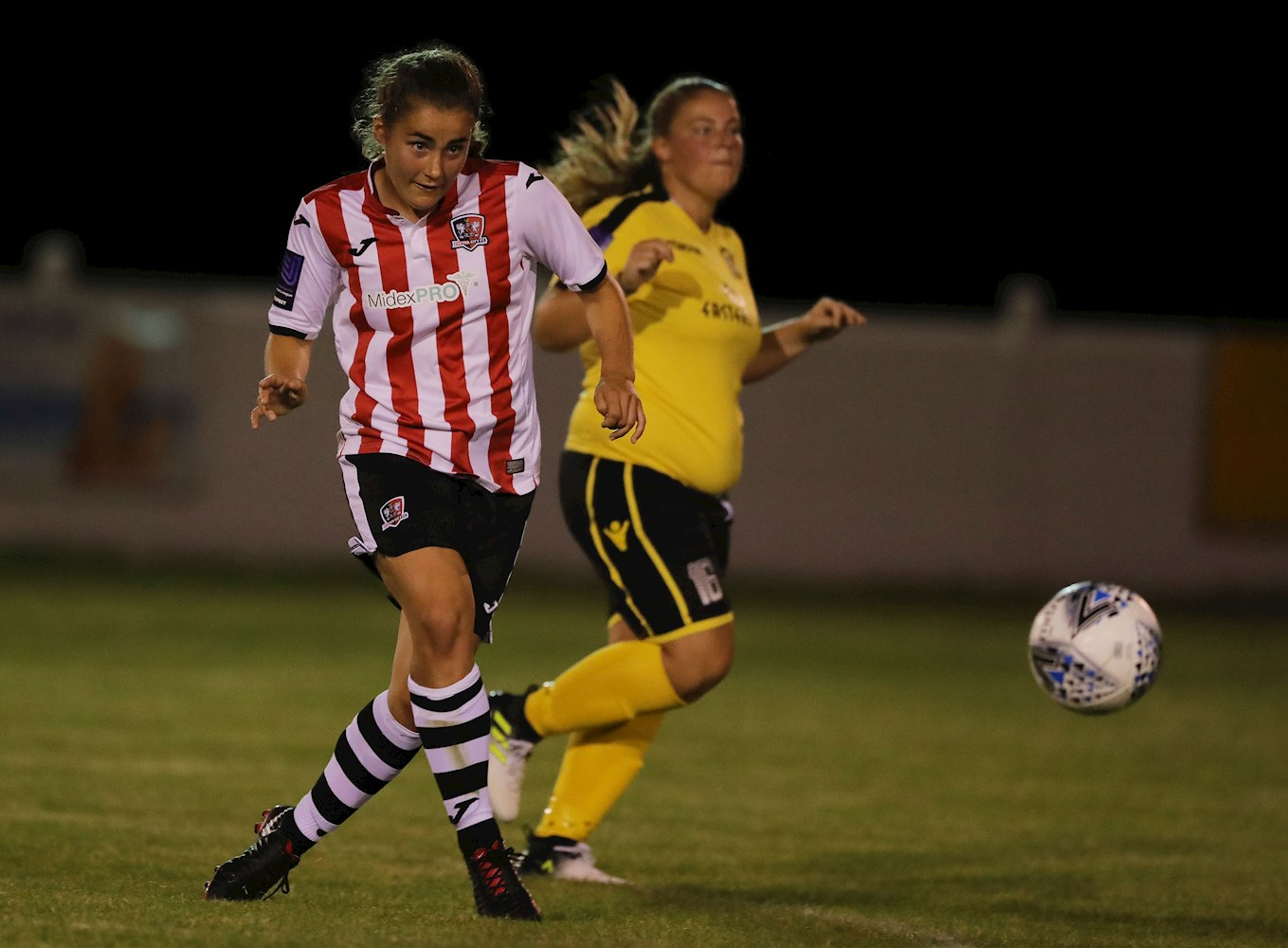 Georgie Barbour in action for the ECFC Women's team.jpg